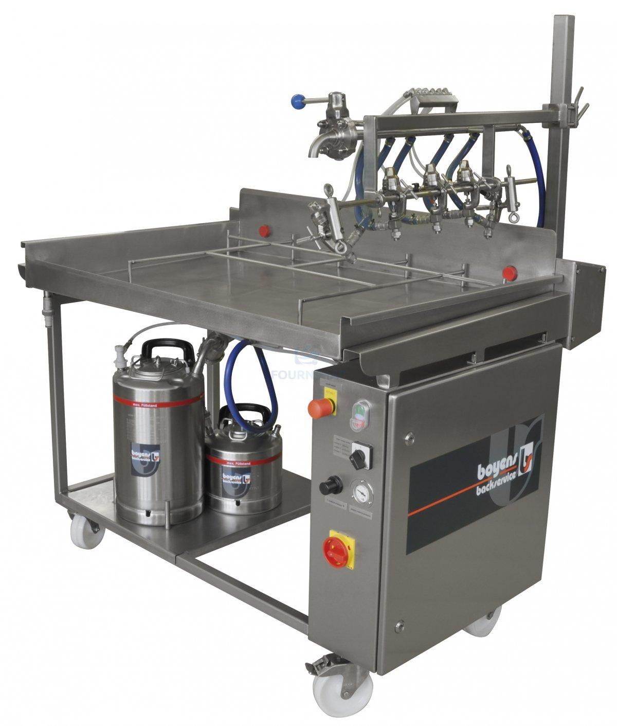 Egg Glaze Sprayer Semi Automatic Spraybridge Spraying