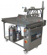 Table de pulvérisation semi automatique pour dorure à base d'oeufs